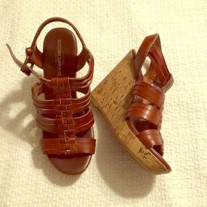 Mossimo Supply Co cork wedges